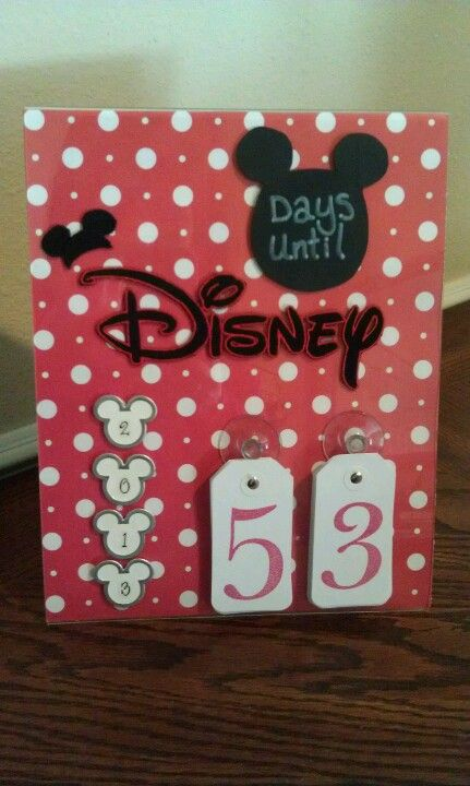 Countdown to DisneyWorld :) Making this as soon as we book our DisneyWorld Trip :)