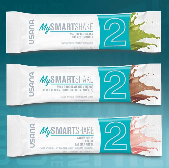 Here's three brand new flavors to fully customize My Smart Shake. Strawberry, Matcha Green Tea and Milk Chocolate.