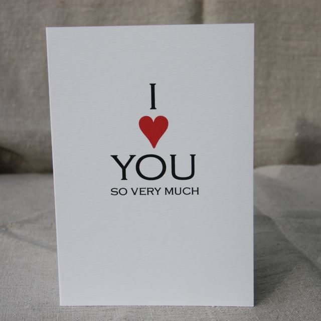 I'm selling I Love You So Very Much Card - A$3.00 #onselz