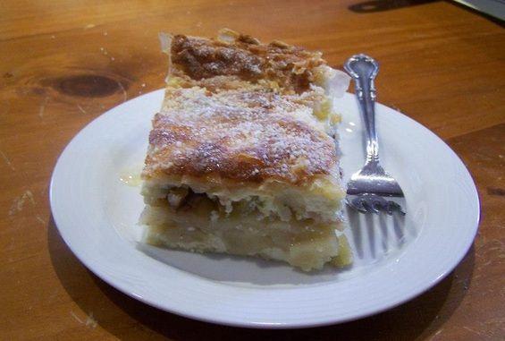 Baka Marija's Gibanica (Apple and Ricotta Strudel Slice). Find the recipe at www.whatscookingella.com/blog/baka-marijas-gibanica2