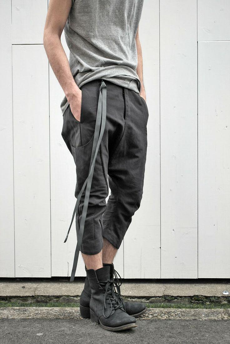 Cropped cotton + linen + silk pants.