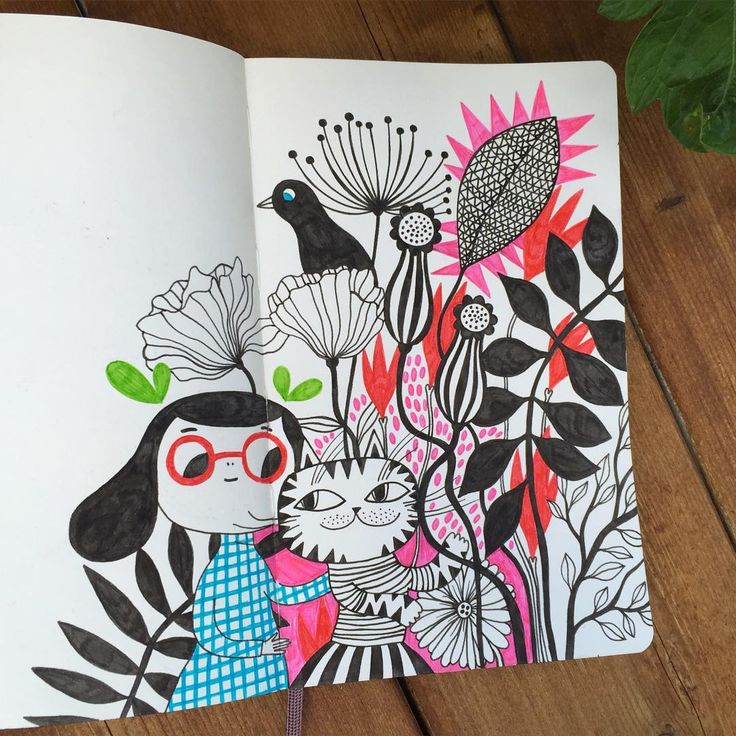 "1,143 Likes, 21 Comments - Helen Dardik (@helen_dardik) on Instagram: ""todays Moleskine adventures!"""