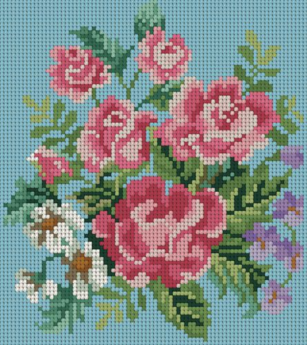 Rose needlework