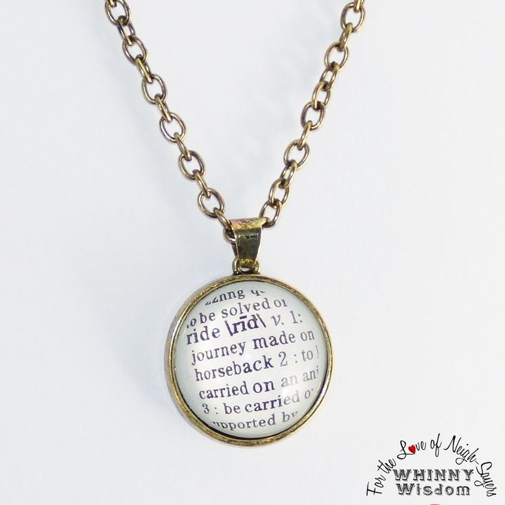 307 best whinny wisdom shopping images on pinterest earring set ride dictionary definition pendant necklace for the horse lover cowgirlfashion whinnywisdom pendant mozeypictures Gallery