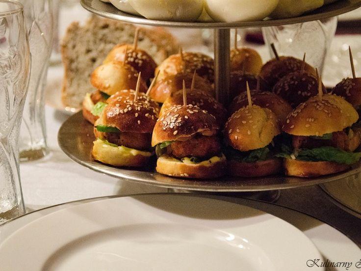 Bułka hamburgerowa + mini fishburgery