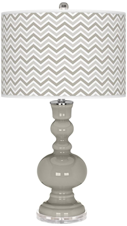 Requisite Gray Narrow Zig Zag Apothecary Table Lamp