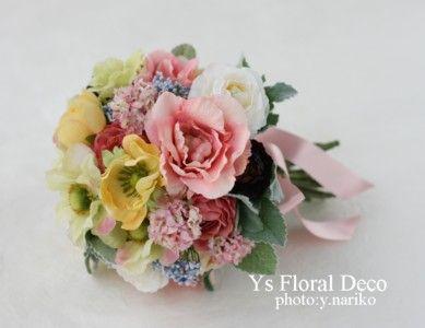 カラフルクラッチブーケ アーティフィシャルフラワー @沖縄アリビラ  ys floral deco