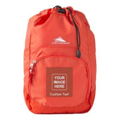 Clean High Sierra Backpack - template gifts custom diy customize