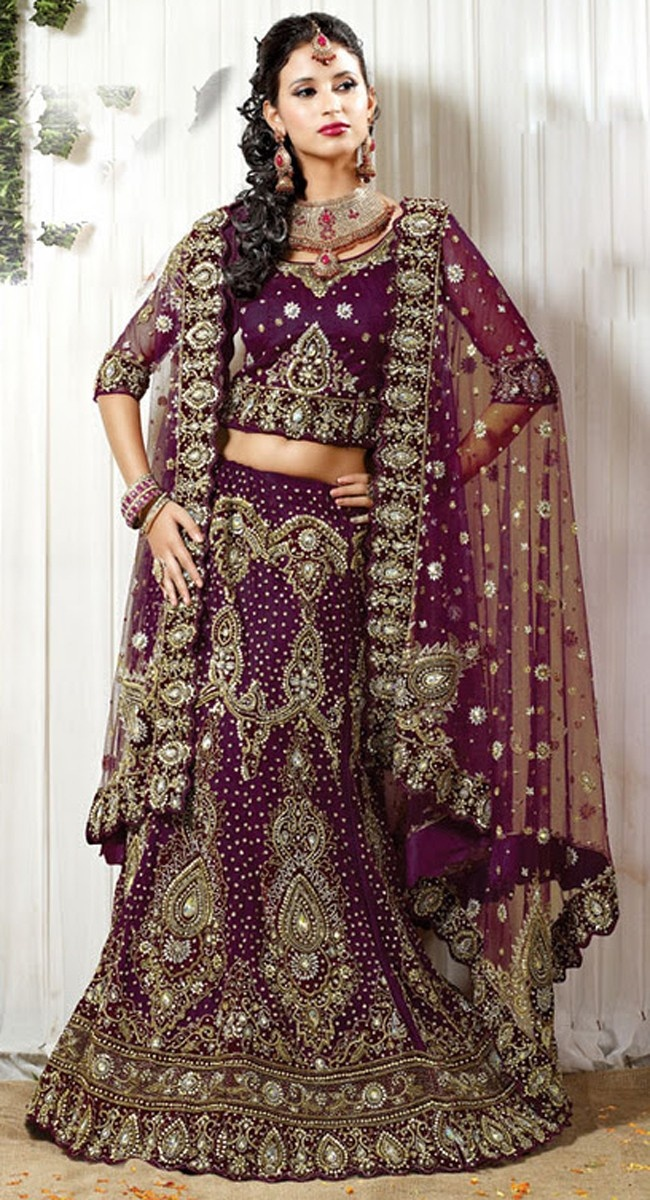 Bollywood Fashion Bridal Lengha Choli Indian Wedding