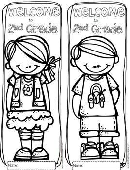 Free Welcome to Any Grade {Pre-K through 6th Grade} Colori