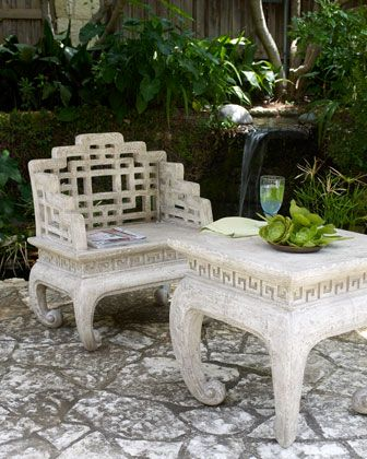 Awesome Garden Fretwork Table And Chair