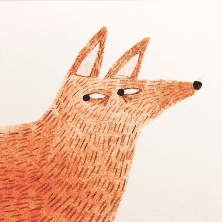 Watchful fox illustration joana rosa bragança                                                                                                                                                                                 More