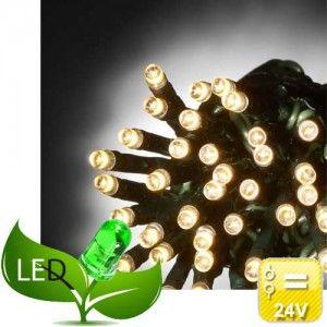 240 Λαμπάκια Led Πρόγραμμα 24V Εξωτερικού χώρου Πράσινο καλώδιο Θερμό φως