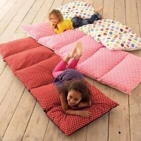 I will be defiantly doing this. Sewing pillows together to make a patch work duvet, perfect for friends to sleep over on or take outside to sunbathing.