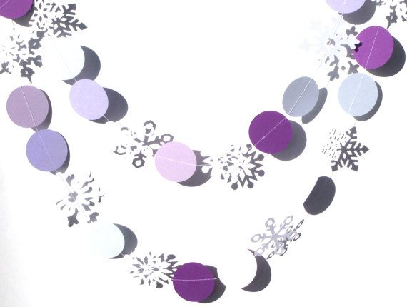 Purple Circles and Snowflakes Themed Sewn by ScrapsToRemember