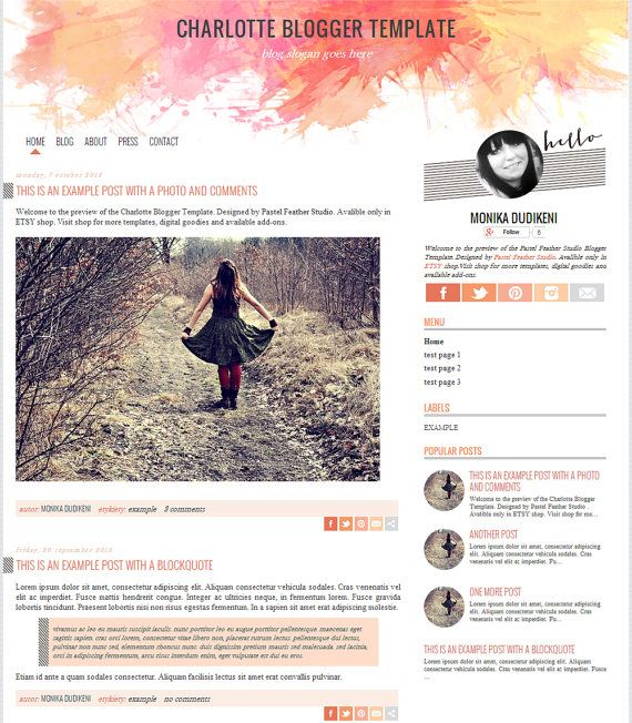 138 best images about cute blogger templates on pinterest