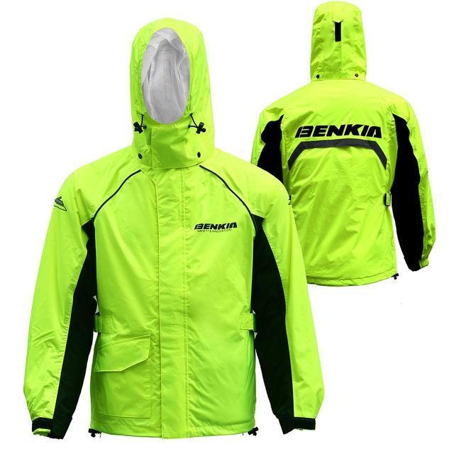 Benkia Motorcycle Rain Coat Two-Piece Raincoat Suit Riding Rain Gear Men Women Camping Fishing Rain Gear Poncho