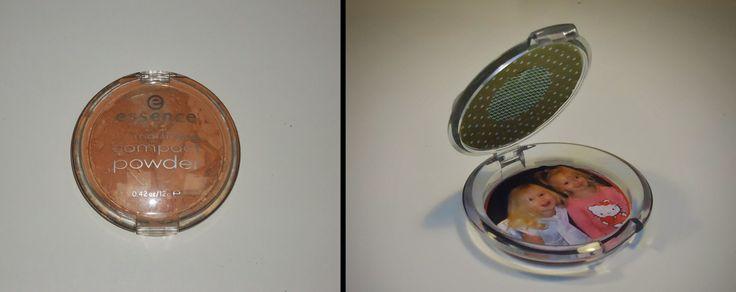 DIY foto medaillon gemaakt van make-up poederdoosje,recycleren van make up spullen