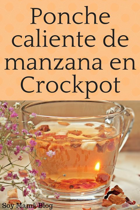 Ponche caliente de manzana en CrockPot