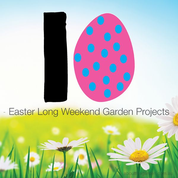 10 easy Easter projects for the garden #easterdiy #aboutthegarden