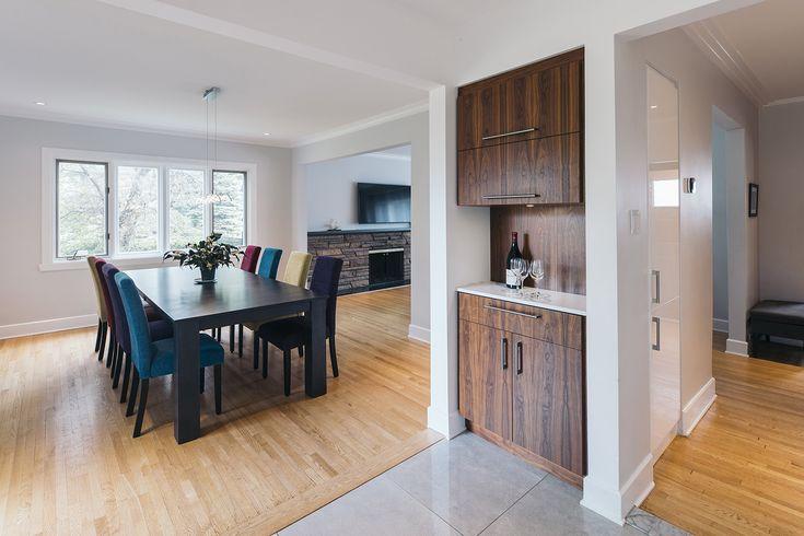 Architecture / Design / Contemporain / Salle à dîner / Mobilier intégré / Bois / Blanc // Interior Design / Contemporary / Dining Room / Furniture / Wood / White
