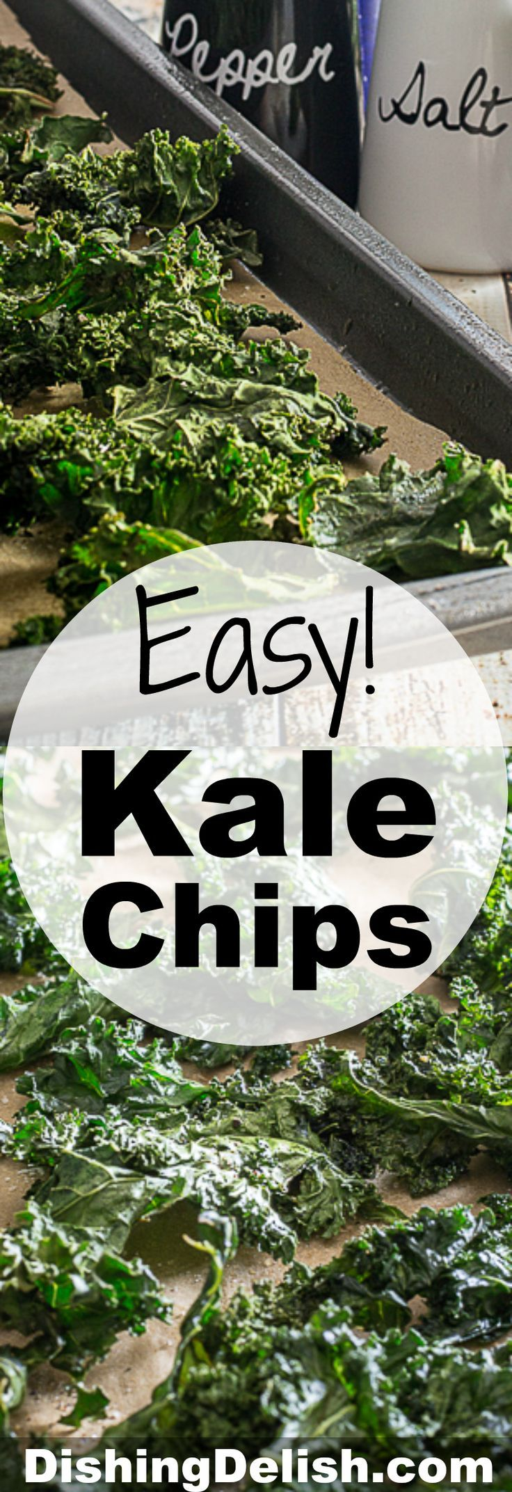 Easy Kale Chips are crispy, healthy, and deliver a satisfying salty crunch when you're craving snacks. So simple to make, you'll want these for your next movie night!