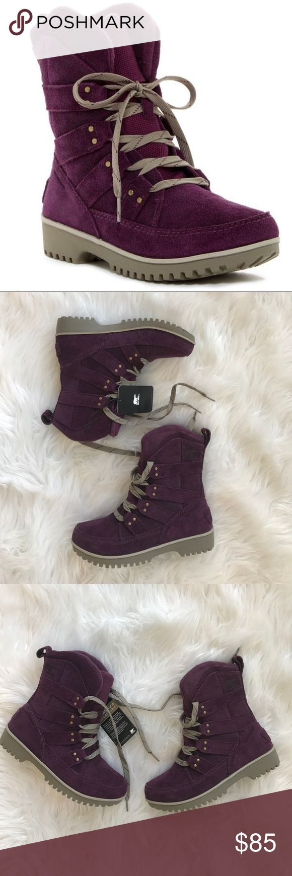 • Sorel • Meadow Lace Up Winter Boots Purple 6 - Sorel - Meadow Lace Up - Brand New with Tags - Size 6 - Purple Sorel Shoes Winter & Rain Boots