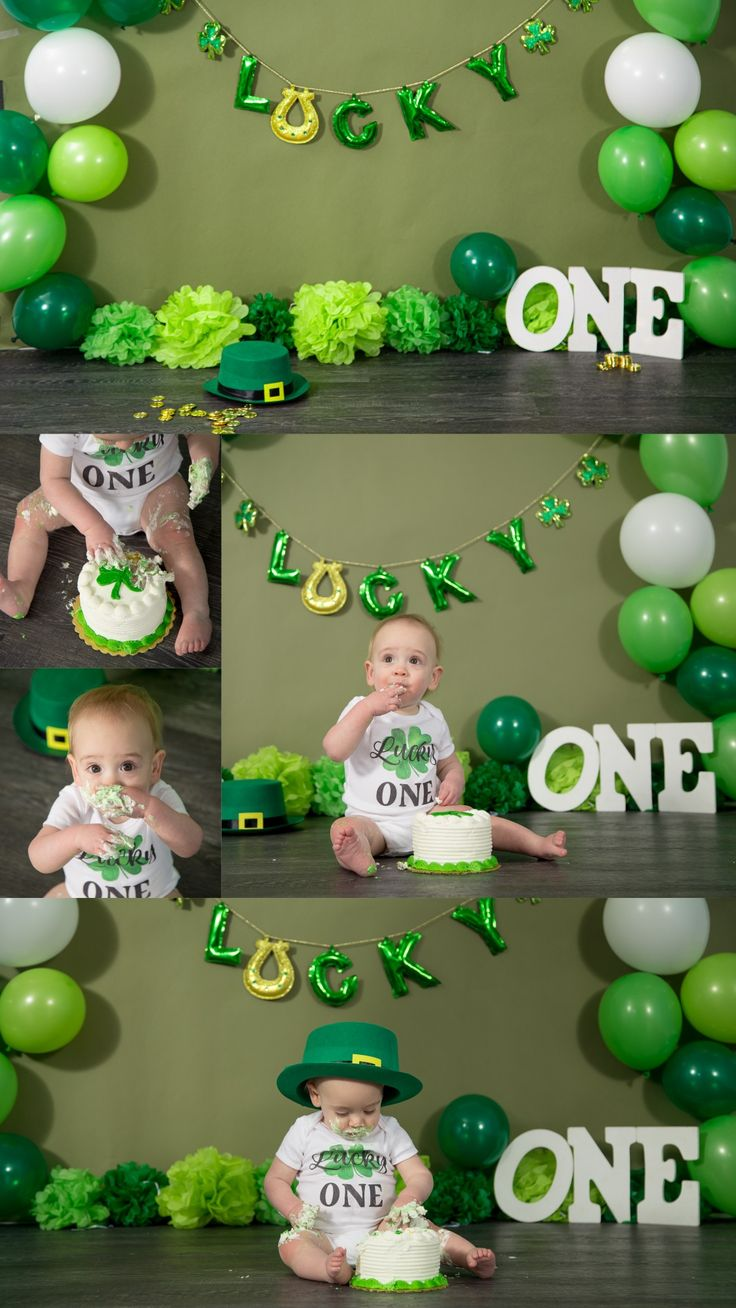 Lucky One Themed Saint Patrick's Day Cake Smash Session