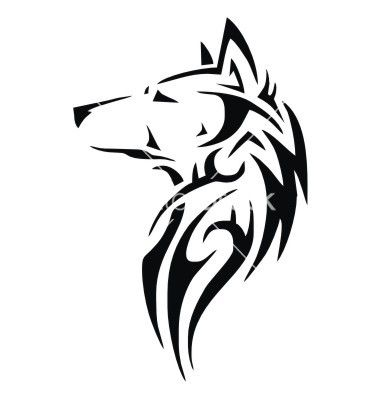 Tribal wolf head vector 1891932 - by VectoryOne on VectorStock®