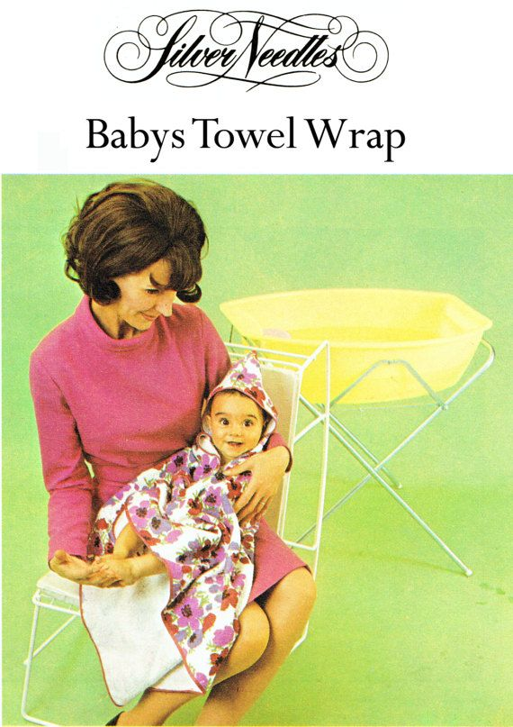 PDF Vintage 1960s Cute Baby Pixie Hood Towel by TheAtticofKitsch