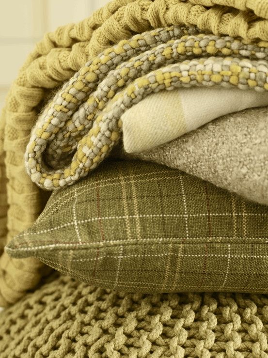 olive green and creme throw pillow with texture.  Good for color punch in living…