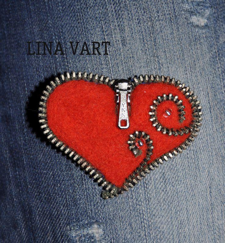 Купить Брошь Горячее сердце - комбинированный, алый, любовь, подарок, подарок девушке, подарок женщине
