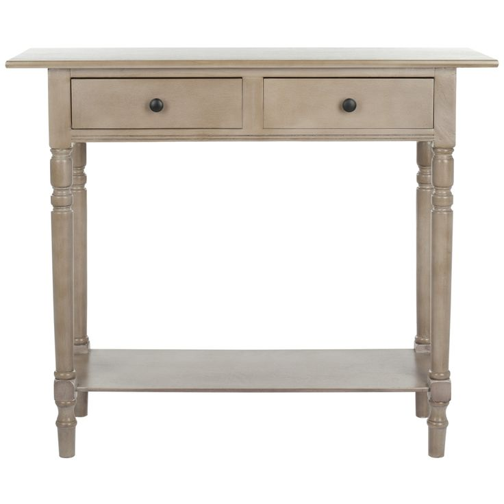 Safavieh Cape Cod Grey 2 Drawer Console Table Sofa End