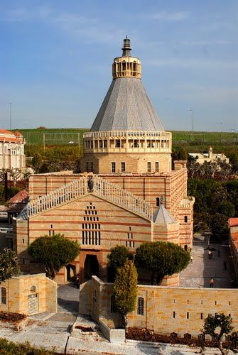 Nazaret. La Basílica de la Anunciación. Históricamente el lugar donde el ángel Gabriel le dijo a María que ella daría a luz a Jesús