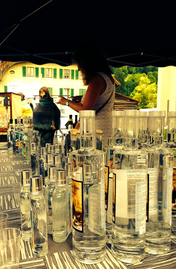 Fête de l'Absinthe at Boveresse, Switzerland. That is the stand of one of the distillers of the Val-de-Travers.