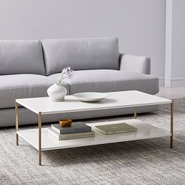 Origami Oversized Coffee Table, Bone / Gunmetal at West Elm – Coffee Tables – Home Decor – Tables