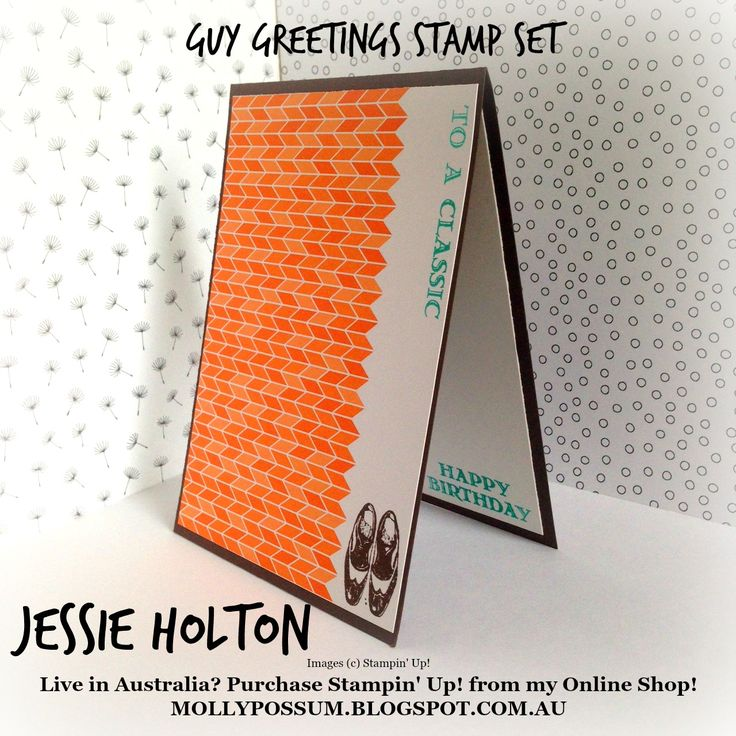 Guy Greetings #JessieHolton #MollyPossumCreations #StampinUp #GuyGreetings #GDP029