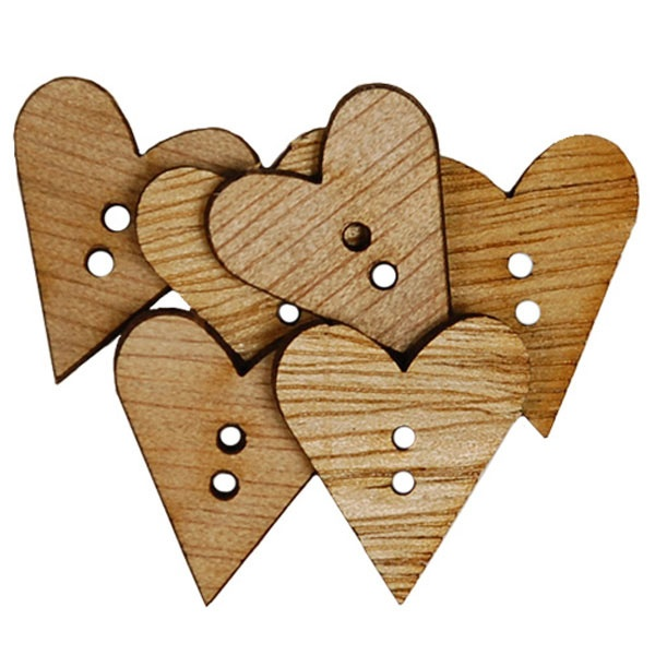 Craftime Simple Hearts Fashion Buttons £2.49 #dunelm #heart #craft #valentine