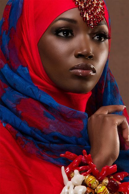 The-Colourful-Hijab-of-the-African-women-fashion-19.jpg (417×626)