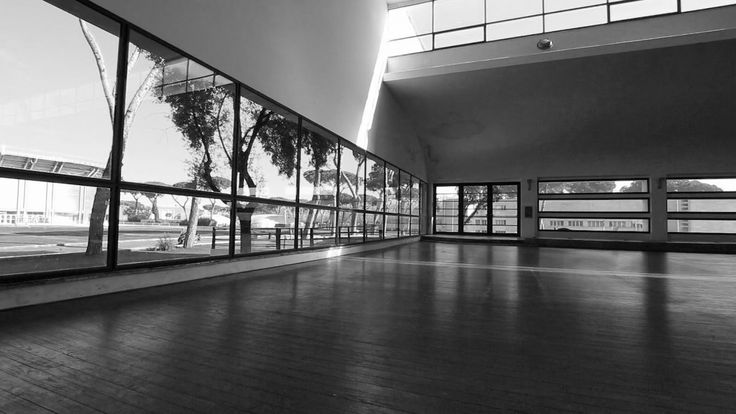 Casa delle Armi, Interno palestra, Roma, Luigi Moretti
