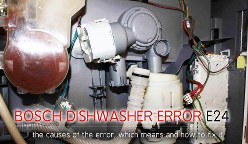 Bosch dishwasher error e24   dishwasher E24   Dishwasher, Error code