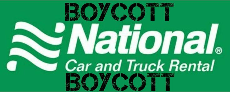 BOYCOTT NATIONAL CAR & TRUCK RENTAL FOR COWERING TO THE LEFT & BACKING AWAY FROM THE NRA.