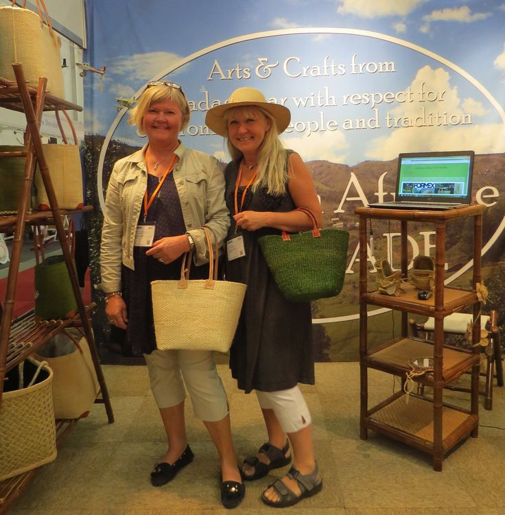 Shopkeepers' choice for Swedish SS2015. Sustainable Fair Trade hats and bags at Formex August 2014.