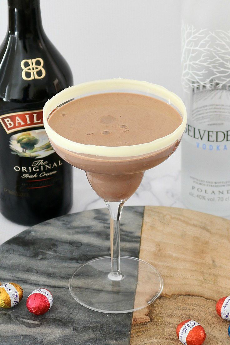 This Boozy Easter Chocolate Cocktail really is the ultimate party drink! Made from baileys, vodka, milk, nutella & a sneaky easter egg hidden at the bottom!  Recipe & Video: http://bakeplaysmile.com/boozy-easter-chocolate-cocktail/  #easter #chocolate #nutella #baileys #vodka #cocktail #recipe #video #thermomix #conventional