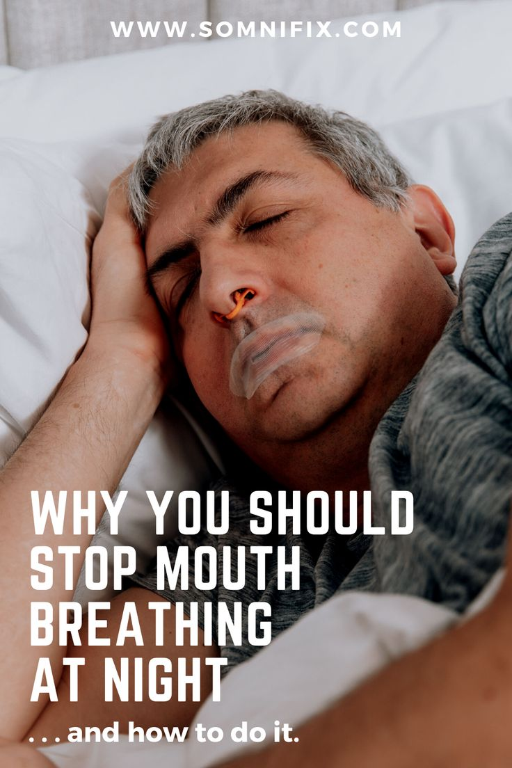 Why you Should Stop Mouth Breathing at Night...and How to