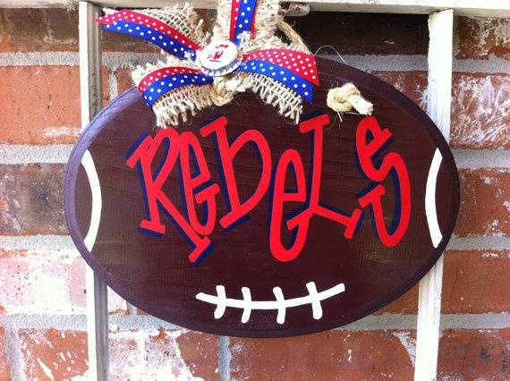 Ole Miss Football Sign. $30.00, via Etsy.