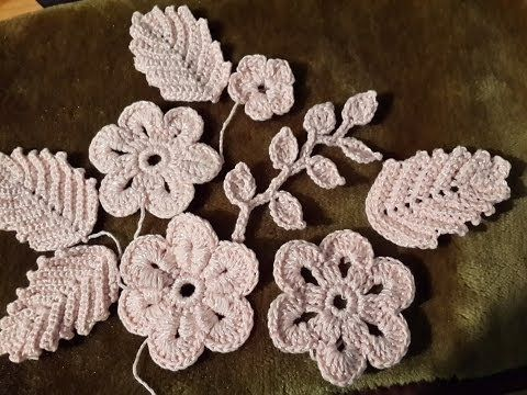 Уроки вязания - Цветок крючком - Ирландское кружево - Flower for Irish lace - How to crochet flower - YouTube