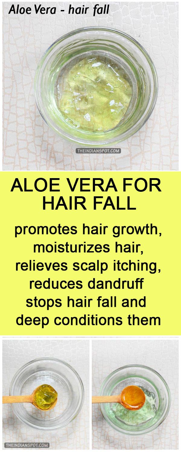 Aloe vera for hair fall