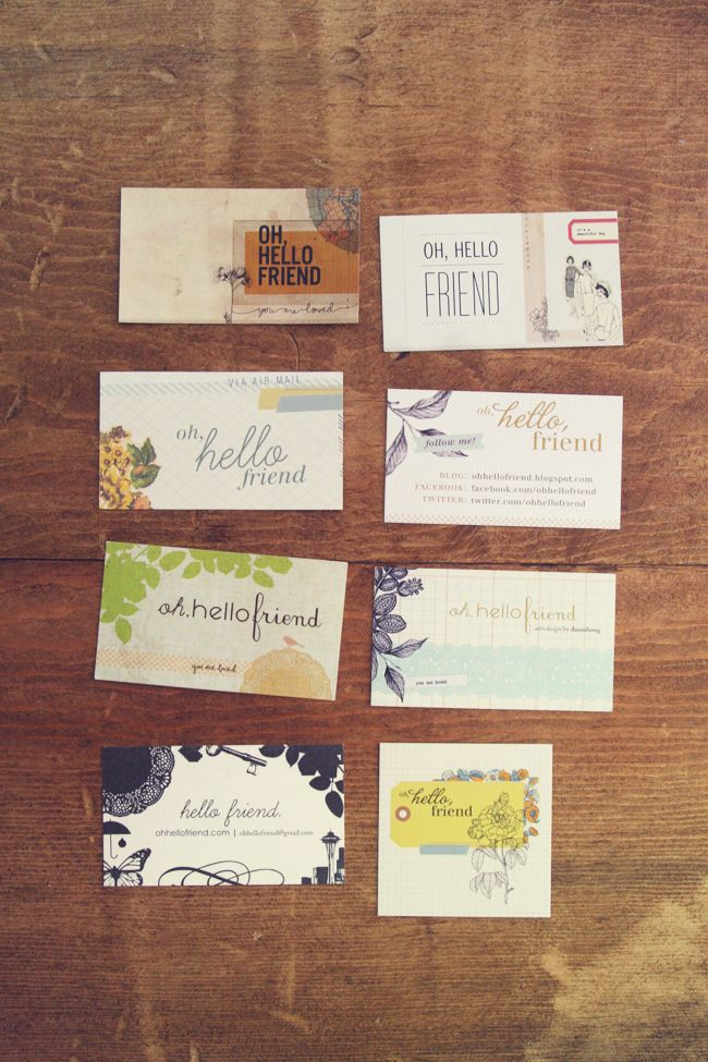 oh, hello friend: you are loved.: happy friday / business cards:, these are beautifully done!