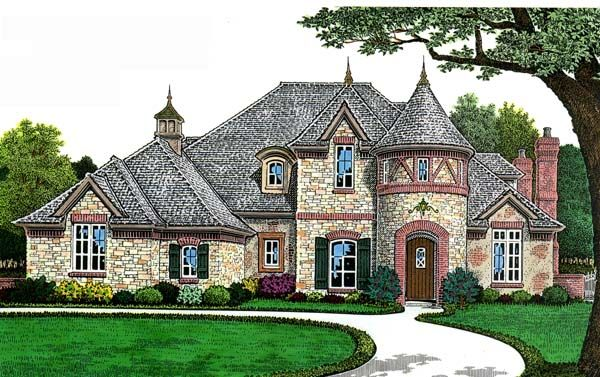 european french country house plan 66268